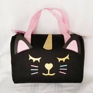 NWT Luv Betsey Johnson Unicorn Cat Lunch Tote